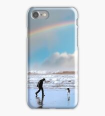 one man and his dog iPhone Case/Skin