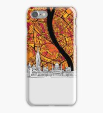 Budapest Colorful Artmap iPhone Case/Skin