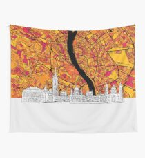 Budapest Colorful Artmap Wall Tapestry