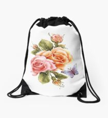 Flower-fly  Drawstring Bag