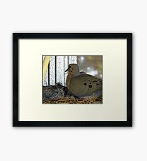Oh, Alright! You Can STAY! Framed Print