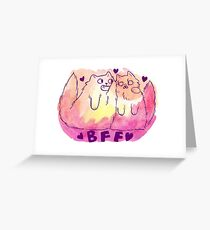 BFF Cats Greeting Card