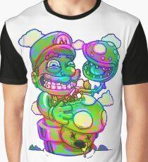Trippy Mario Graphic T-Shirt