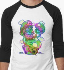 Trippy Mario Men's Baseball ¾ T-Shirt