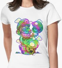 Trippy Mario Womens Fitted T-Shirt