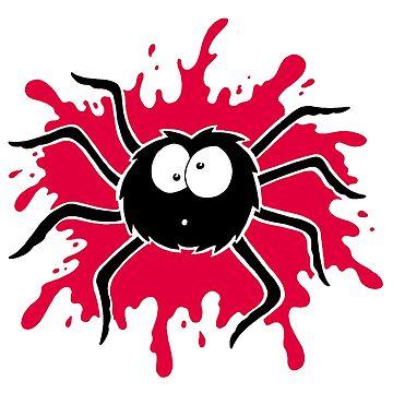 Big Furry Spider Gone Splat by calvininnes
