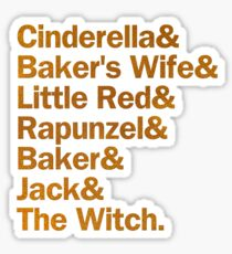 Into the Woods Characters | Blue/Gold Sticker