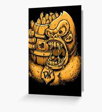 Donkey Kong Bananas Greeting Card