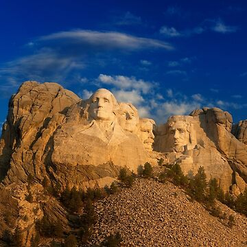 Sunrise over Mount Rushmore National Memorial by alex4444