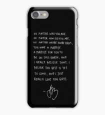 Purpose Tour Speech - Justin Bieber iPhone Case/Skin