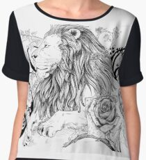 The Lion and the Rose Chiffon Top