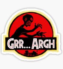 Grrassic Pargh Sticker