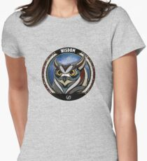 Tribal Owl Womens Fitted T-Shirt