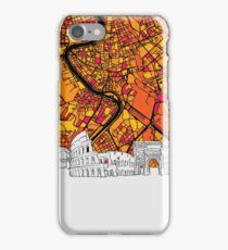 Rome Panorama Map iPhone Case/Skin