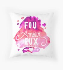 Fou Amour Eux - Crazy in Love Throw Pillow