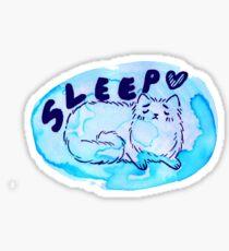 Sleepy Watercolor Kitty Sticker