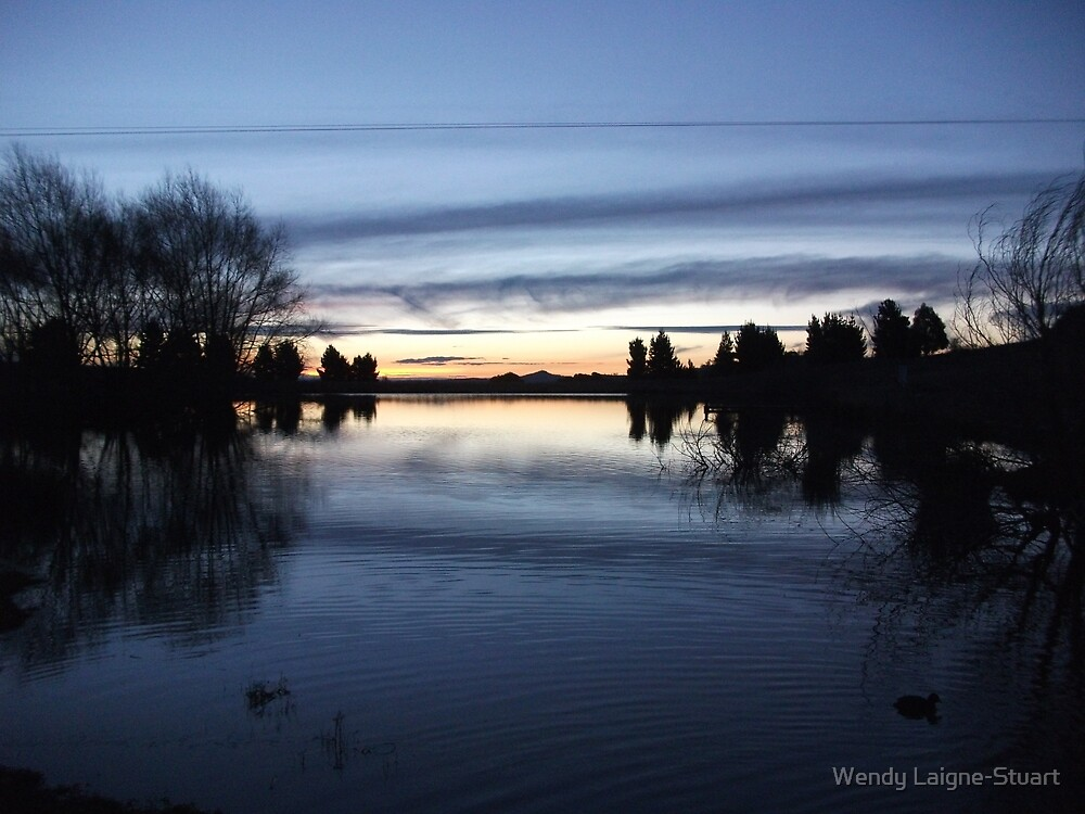 Sunset On A Monaro Lake.  by Wendy Laigne-Stuart