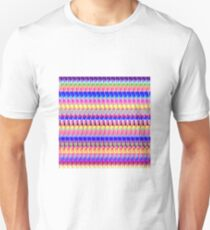 Pink Abstract Stripe Unisex T-Shirt
