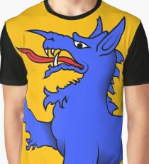 Blue Tyger on gold Graphic T-Shirt