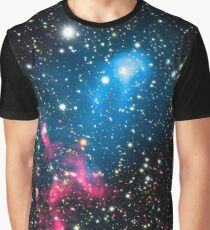 Galaxies Colliding In Space Graphic T-Shirt