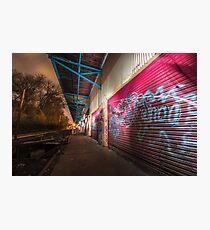 Illuminated | Abandoned Railway Station  Photographic Print