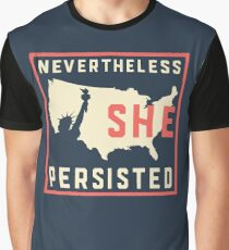Nevertheless She Persisted. Resist with Lady Liberty Graphic T-Shirt