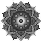 Handpan - Hang Drum Mandala solo - black grey white  by EDDArt