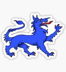 Blue Tyger on purple Sticker