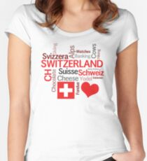 I Love Switzerland Women's Fitted Scoop T-Shirt