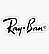 Black Ray Ban Logo Sticker