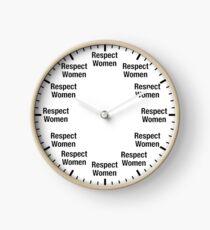 Respect Women Clock Clock