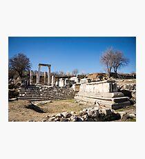 Excavations in Lagina, Turkey Photographic Print