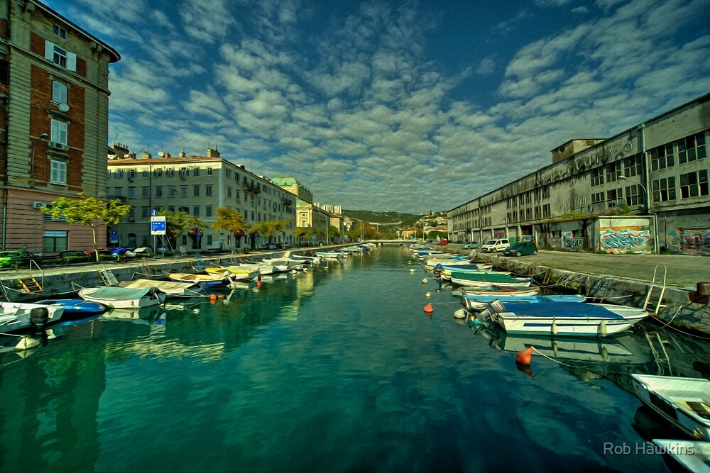 Rijeka old dock  by Rob Hawkins