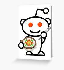 Cross Stitch Reddit Snoo Greeting Card