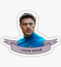 I Hate Space Sticker