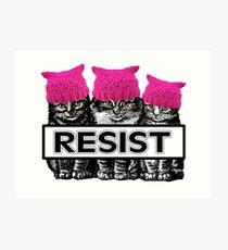 Pussies Resist Art Print