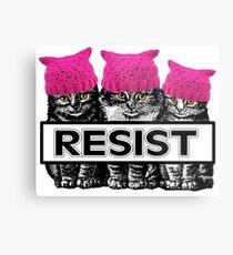 Pussies Resist Metal Print