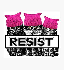 Pussies Resist Photographic Print