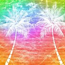 PALM TREES RETRO 70'S 80'S STYLE GRUNGE DISTRESSED BEACH OCEAN SURFING 2 by MyHandmadeSigns