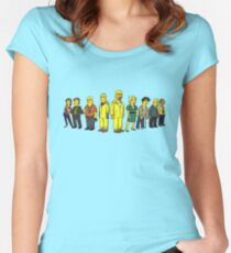 Breaking  Bad - Simpsons Women's Fitted Scoop T-Shirt
