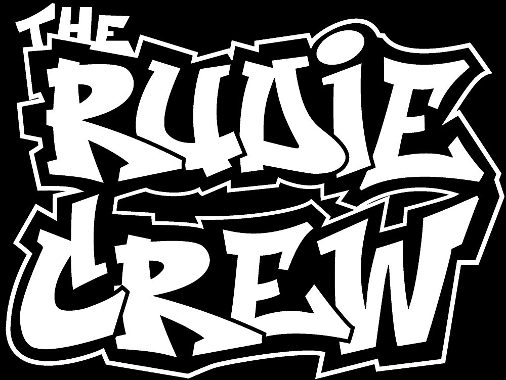 The Rudie Crew Logo on Black by TheRudieCrew