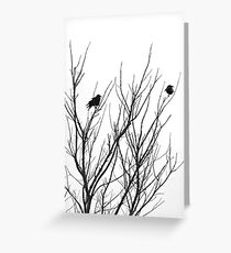 Two Blackbirds Greeting Card