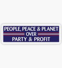 People, Peace & Planet (Blue) Transparent Sticker