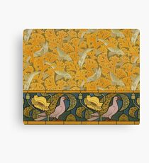 Beaux-Arts Doves and Fishes Canvas Print