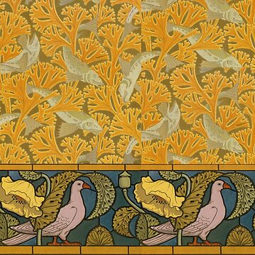 Beaux-Arts Doves and Fishes by ColorCats