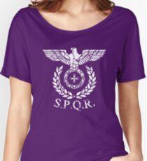 Roman Emblem SPQR Women's Relaxed Fit T-Shirt