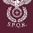 Roman Emblem SPQR by HandDrawnTees
