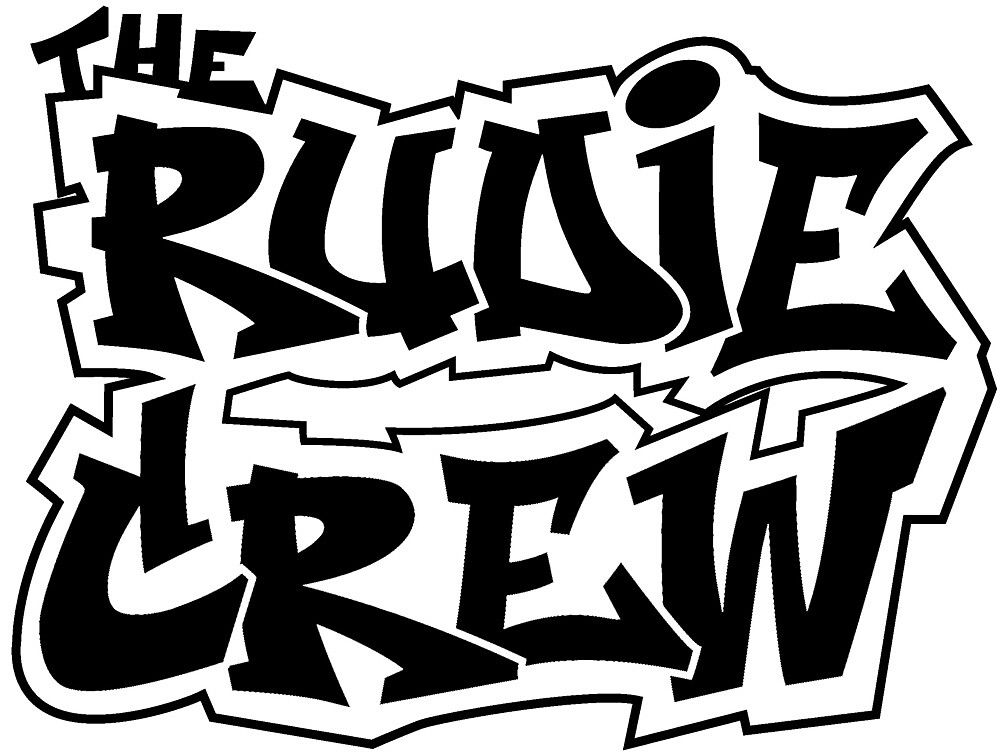 The Rudie Crew Logo on White by TheRudieCrew