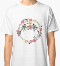 Bouquet of Vintage Rose - wreath Classic T-Shirt