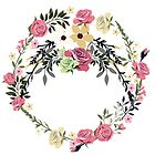 Bouquet of Vintage Rose - wreath by casualforyou